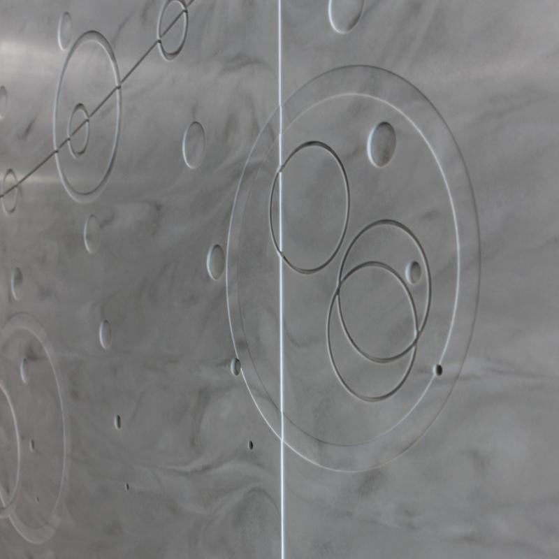 Cameron Run - Art Wall Detail - closeup